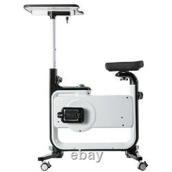 2-in-1 Health Fitness Exercise Bike Workstation and Standing Desk Computer Table