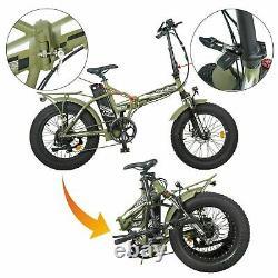 20 48V 15 AH 500W Folding Electric Fat Tire Bike Beach Bicycle City Ebike LCD
