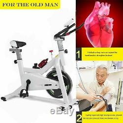 2018 Bicycle Cycling Fitness Exercise Bike Stationary Workout Indoor Gym White B