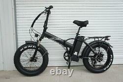 20Fat Tire 750W 48V 13AH Folding Electric Bike Beach Snow E Bicycle SK-20 Black