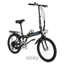20inch 7-Speed City Folding Compact Suspension Bike Bicycle Urban Commuters