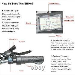 26 1000W 48V 21-Speed Mountain Beach Electric Bike Bicycle EBike E-Bike LCD