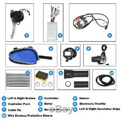 26 x 1.95 Rear Wheel Electric Bicycle Kit With Controller LCD Display 1000W 48V