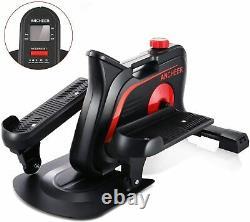 2in1 Elliptical Machines Standable & Seated Under Desk Bikes Trainer Black Sport