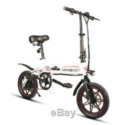 36V Aluminum Alloy LCD Display Folding E-Bike Electric Bicycle Mountain Bike US