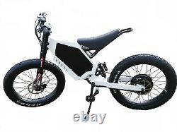 72V3000W 26x4.0 Wheel Stealth Bomber Electric Mountain Bike Ebike Beach Cruiser