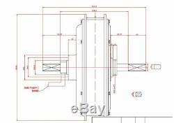 90km/h max speed LCD display 3000w electric bike conversion kit 48V-72V 3000w E