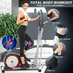 ANCHEER 2 IN 1 Fitness Machine Elliptical Bike Exercise Cardio Machine FREE GIFT