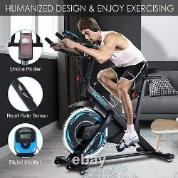 ANCHEER Exercise Bike, 49LBS Indoor Cycling Bike Stationary with Heart Rate Monitor