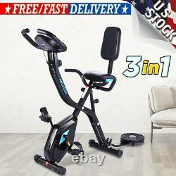ANCHEER Foldable 3 in 1 Stationary Upright Folding Exercise Bike Workout Cycling