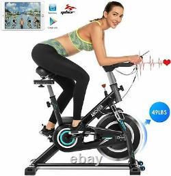 ANCHEER Indoor Cycling Bike Stationary Exercise Bikes 49LBS Flywheel LCD Monitor