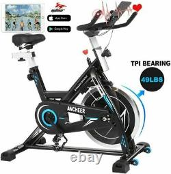 ANCHEER Indoor Cycling Bike Stationary Exercise Bikes, 49LBS Silent Belt Drive
