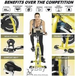 ANCHEER Indoor Cycling Bike Stationary Exercise Bikes with LCD Monitor Workout