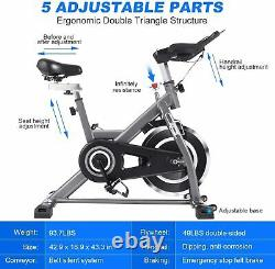 ANCHEER Indoor Exercise Bike Stationary, 49Lbs Cycling Bike & Heart Rate Monitor