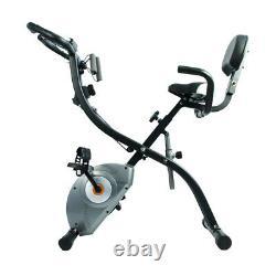 ATIVAFIT Exercise Bike Magnetic Stationary Upright Bike Foldable Indoor Cycling