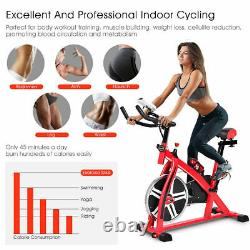 Adjustable Exercise Bike Bicycle Cycling Cardio Fitness LCD with 18lbs Flywheel
