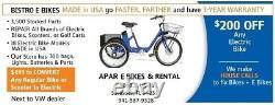 Bistro 48v 1500 watt Fat Tire electric scooter bike Made in USA 4LCD 35mph