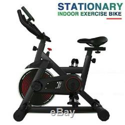 Black Exercise Stationary Bike Cycling Home Gym Cardio Workout Indoor Fitness