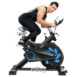 Black Exercise Stationary Bike Cycling Home Gym Cardio Workout Indoor Fitness US