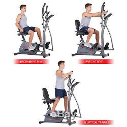 Body Champ 3-in-1 Trio Trainer Elliptical Trainer Recumbent and Upright Bike