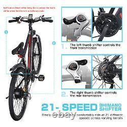 Campmoy Electric Mountain Bike, LCD Display, 20MPH, 350W Motor, Free Bike Lock