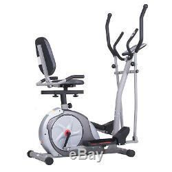 Cardio 3 In 1 Elliptical Cross Trainer Bike Exercise Fitness Machine Home Gym W