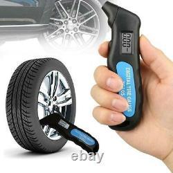 Digital Tire Air Pressure Gauge Meter Tester Bike Car Truck LCD Display
