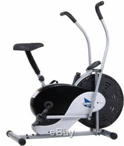 EXERCISE BIKE TRAINER Fan Bicycle Stationary Cardio Upright Fitness Manual
