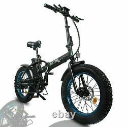 Electric Bike 48V 20 Fat Tire 500W Portable Folding LCD Road & Off Road E-bike
