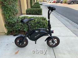 Electric Bike Black Compact Foldable 12 Wheels
