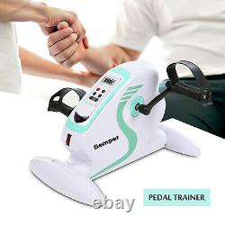 Electric Mini Exercise Bike Fitness Motorized Pedal Exerciser with LCD Monitor