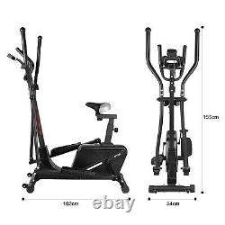 Elliptical Cross Trainer And Exercise Bike Cardio Workout Machine With Seat New