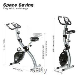 Exercise Bicycle Cardio Cycling Fitness Home Stationary Bike 8 Levels Resistance