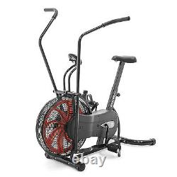 Exercise Bike Black Red Air Resistance Cardio Machine Marcy Fan Bike NS-1000