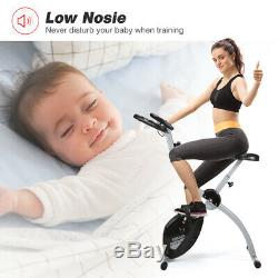Exercise Bike Cycling Fitness Cardio Training Home Indoor Trainer Foldable Black