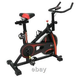Exercise Bike Indoor Cycling Bicycle Stationary withLCD Display Home Cardio Gym