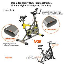 Exercise Bike Stationary Bicycle Indoor Cycling Fitness Cardio Workout Training