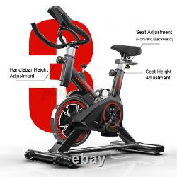 Exercise Bike Stationary Bicycle Indoor Cycling LCD Cardio Fitness Workout Gym