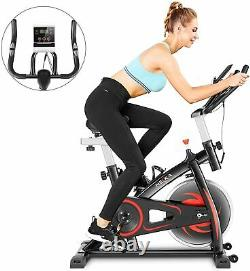 Exercise Bike Upright Stationary Bicycle Cycling 30lbs Flywheel with APP 330lbs