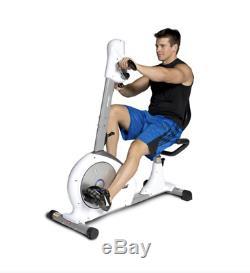 Exercise Bike Velocity Dual Motion Recumbent Machine With Mat Home Gym Equipmen