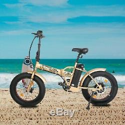 FOLDING 20 500W 48V12.5Ah Electric City Bicycle E-Bike LCD Pedal Assist 7 Speed