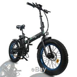 FOLDING 20 500W 48V13Ah Electric City Bicycle E-Bike LCD Pedal Assist 7 Speed