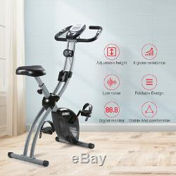Foldable Exercise Bike Home Aerobic Training Cycle 8 Levels Resistance Fitness