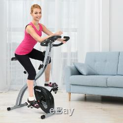 Foldable Stationary Exercise Bike Adjustable Cycling Magnetic Cardio Training US