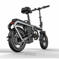 Folding 14 Electric Bicycle 350W Mountain e-City Bike ebike 95% Pre-assembled