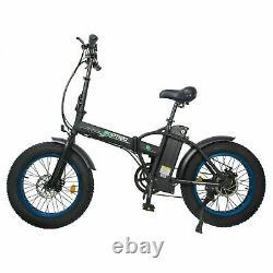 Folding 20 48V 12.5AH 500W Electric FatTire City E Bike Beach Bicycle Ebike LCD