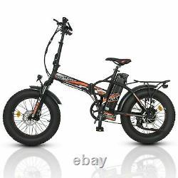 Folding 20 48V 15AH 500W Electric Bike Beach Mountain Bicycle City Ebike LCD