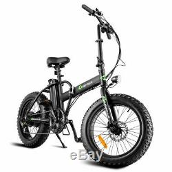 Folding Adults 500W Electric Bicycle 20 Fat Tire LCD Display Lithium Battery