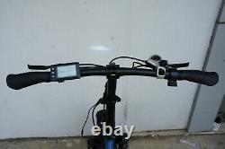 Folding Bicycle 20 Fat Tire 750W 48V 13AH Electric Bike Beach Snow Blue US SELL