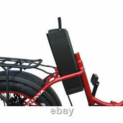 Folding Bicycle 20Fat Tire 750W 48V 13AH Electric Bike Beach City Red US SELL
